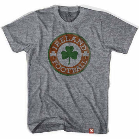 Ireland Football Clover Crest Soccer T-shirt - Athletic Grey / Adult Small - Ultras Soccer Country T-shirts