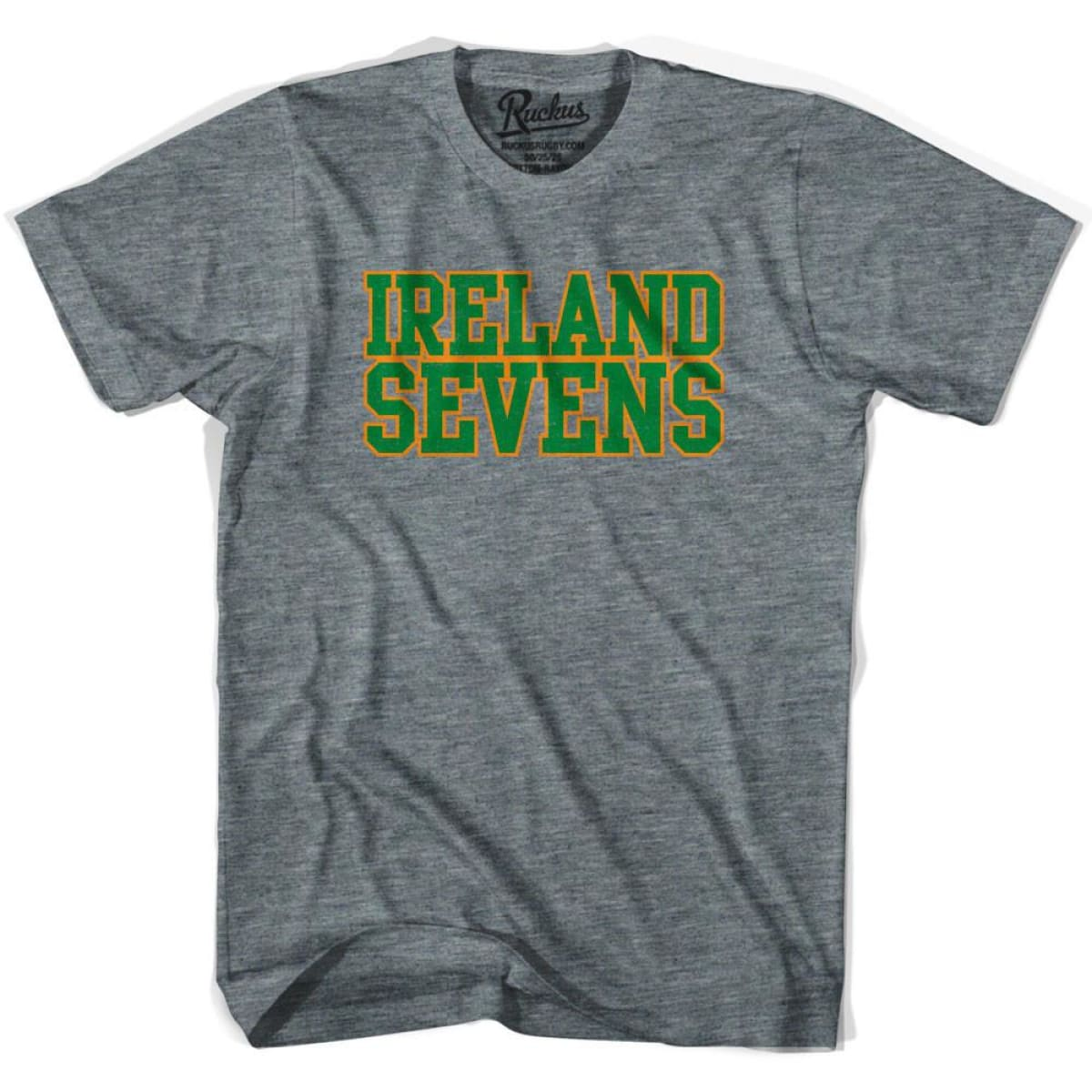 Ireland Sevens Rugby T-shirt - Athletic Grey / Adult Small - Rugby T-shirt
