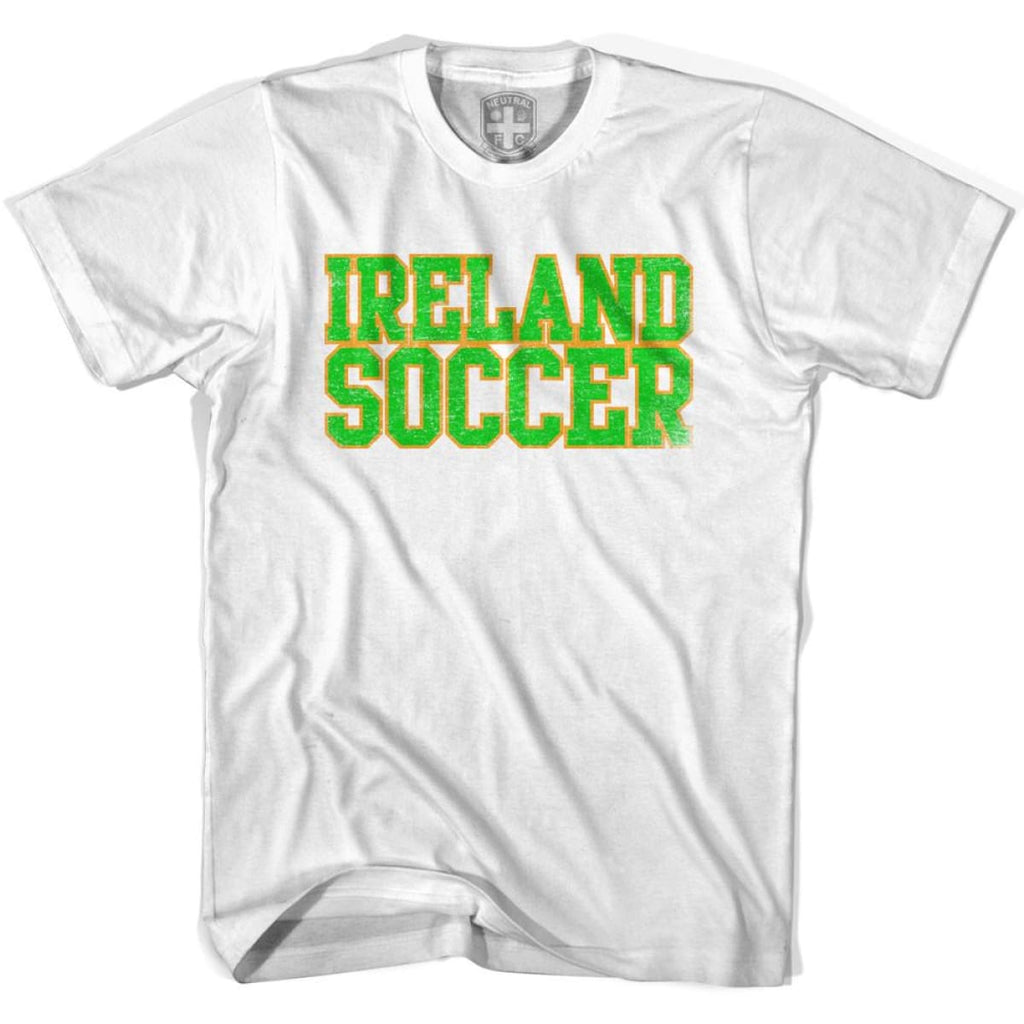 Ireland Soccer Nations World Cup T-shirt - White / Youth X-Small - Ultras Soccer T-shirts