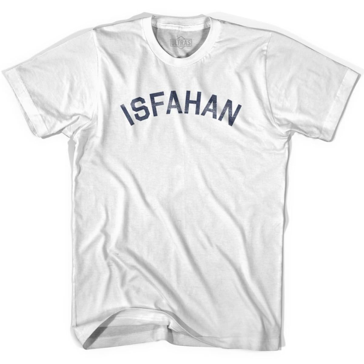 Isfahan Vintage City Womens Cotton T-shirt - White / Womens Small - Asian Vintage City