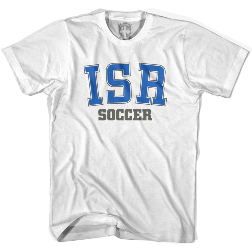Israel ISR Soccer Country Code T-shirt - White / Youth X-Small - Ultras Soccer T-shirts