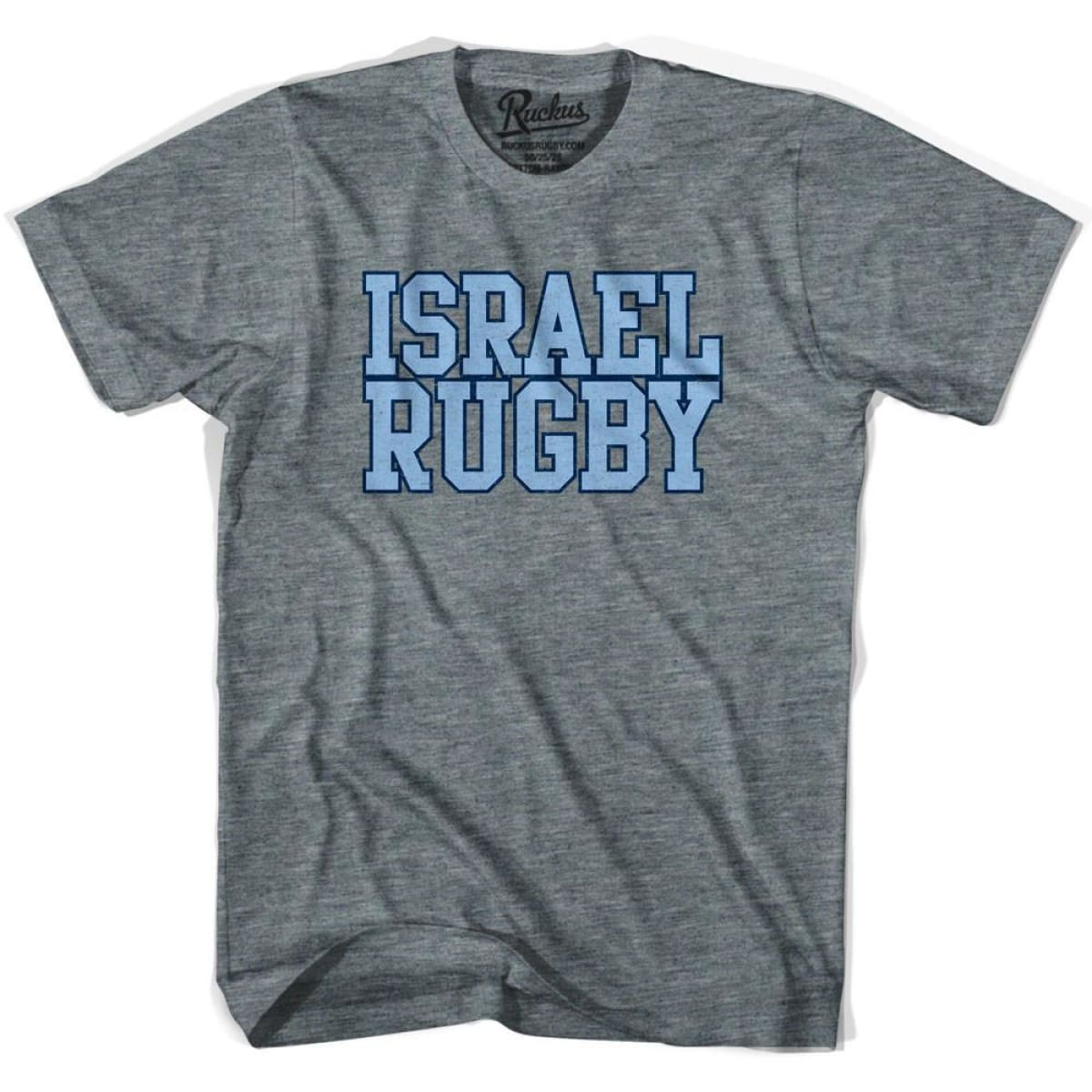 Israel Rugby Nations T-shirt - Athletic Grey / Adult Small - Rugby T-shirt