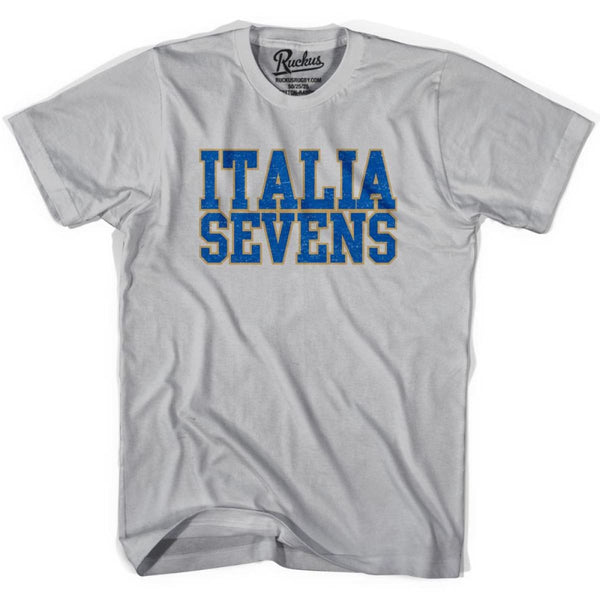 Italy Seven Rugby Natons T-shirt - Cool Grey / Youth X-Small - Rugby T-shirt