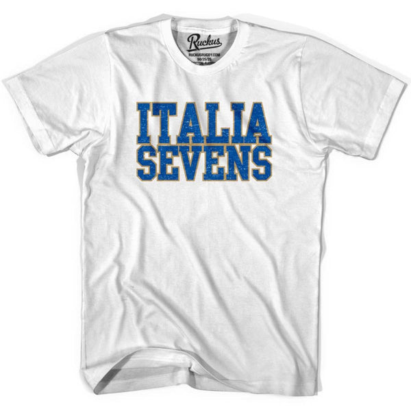 Italy Seven Rugby Natons T-shirt - White / Youth X-Small - Rugby T-shirt