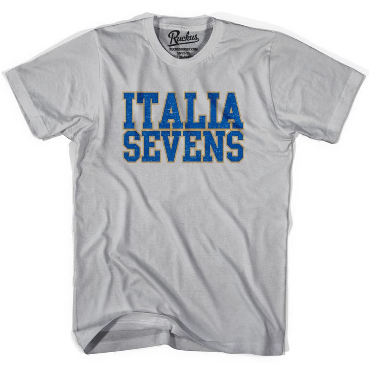 Italy Sevens Sevens Rugby T-shirt - Cool Grey / Youth X-Small - Rugby T-shirt