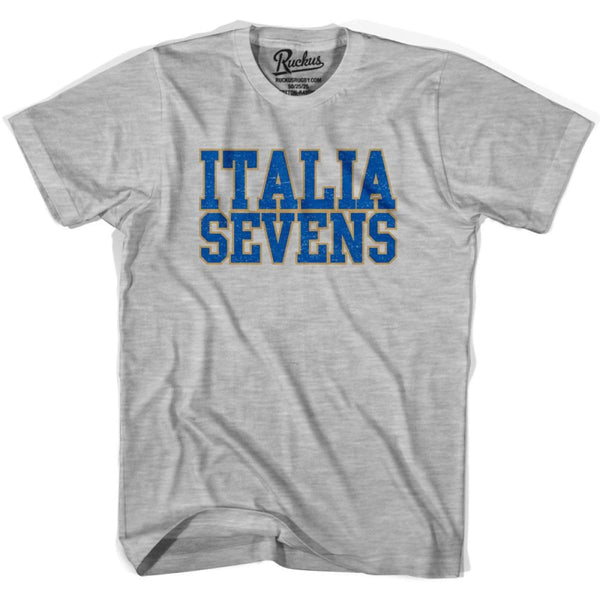 Italy Sevens Sevens Rugby T-shirt - Heather Grey / Youth X-Small - Rugby T-shirt