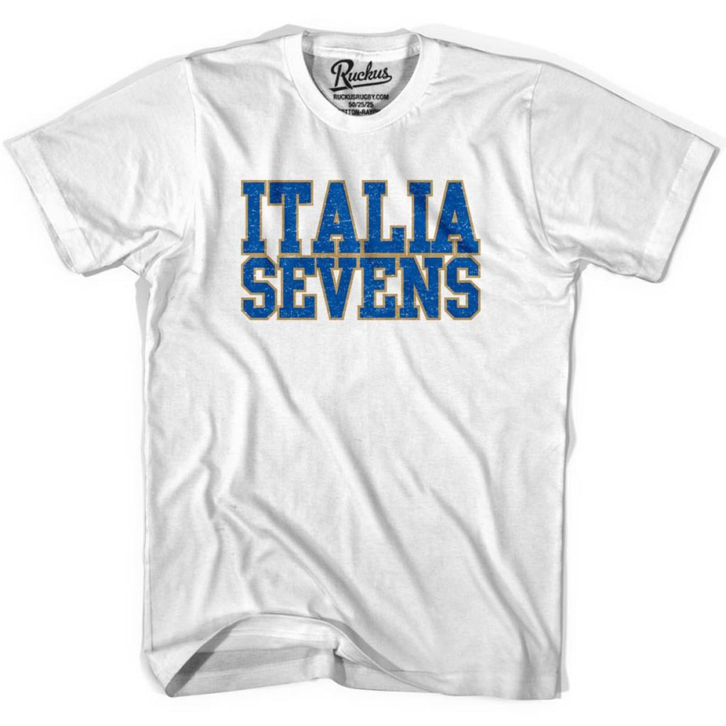 Italy Sevens Sevens Rugby T-shirt - White / Youth X-Small - Rugby T-shirt