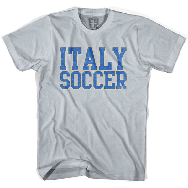 Italy Soccer Nations World Cup T-shirt - Silver / Youth X-Small - Ultras Soccer T-shirts