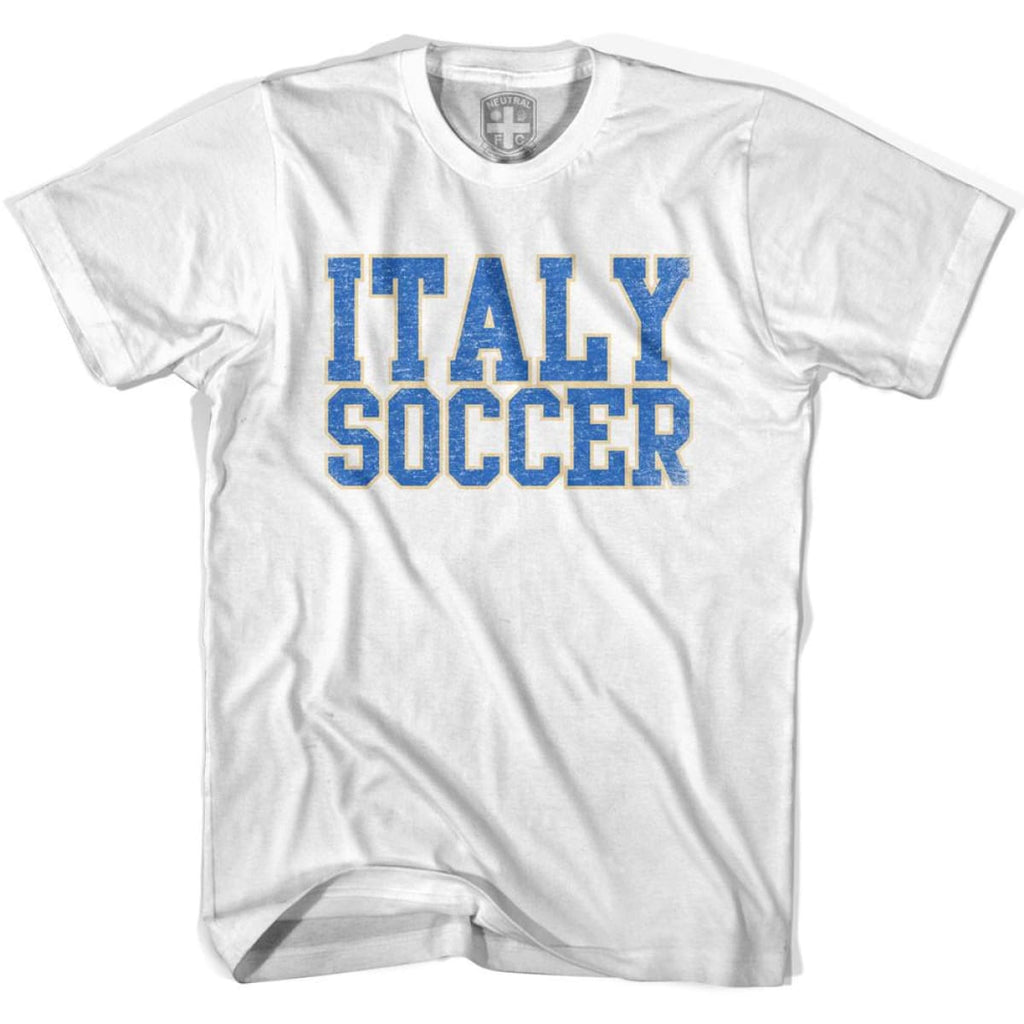 Italy Soccer Nations World Cup T-shirt - White / Youth X-Small - Ultras Soccer T-shirts