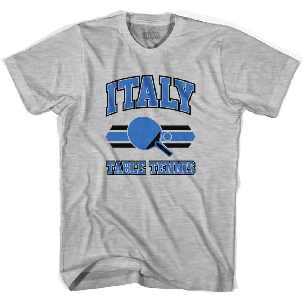 Italy Table Tennis Adult Cotton T-shirt