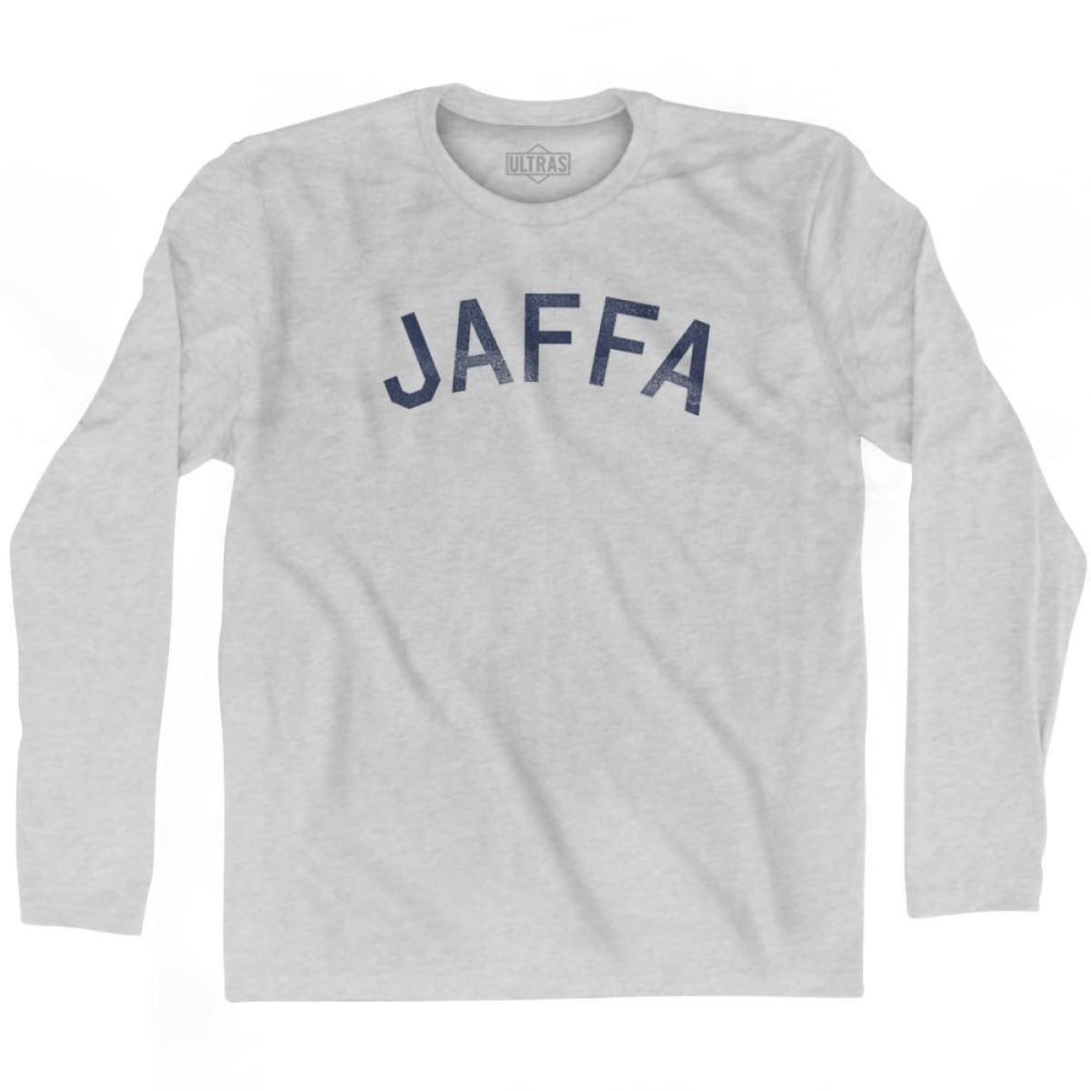 Jaffa Vintage City Adult Cotton Long Sleeve T-shirt - Grey Heather / Adult Small - Asian Vintage City
