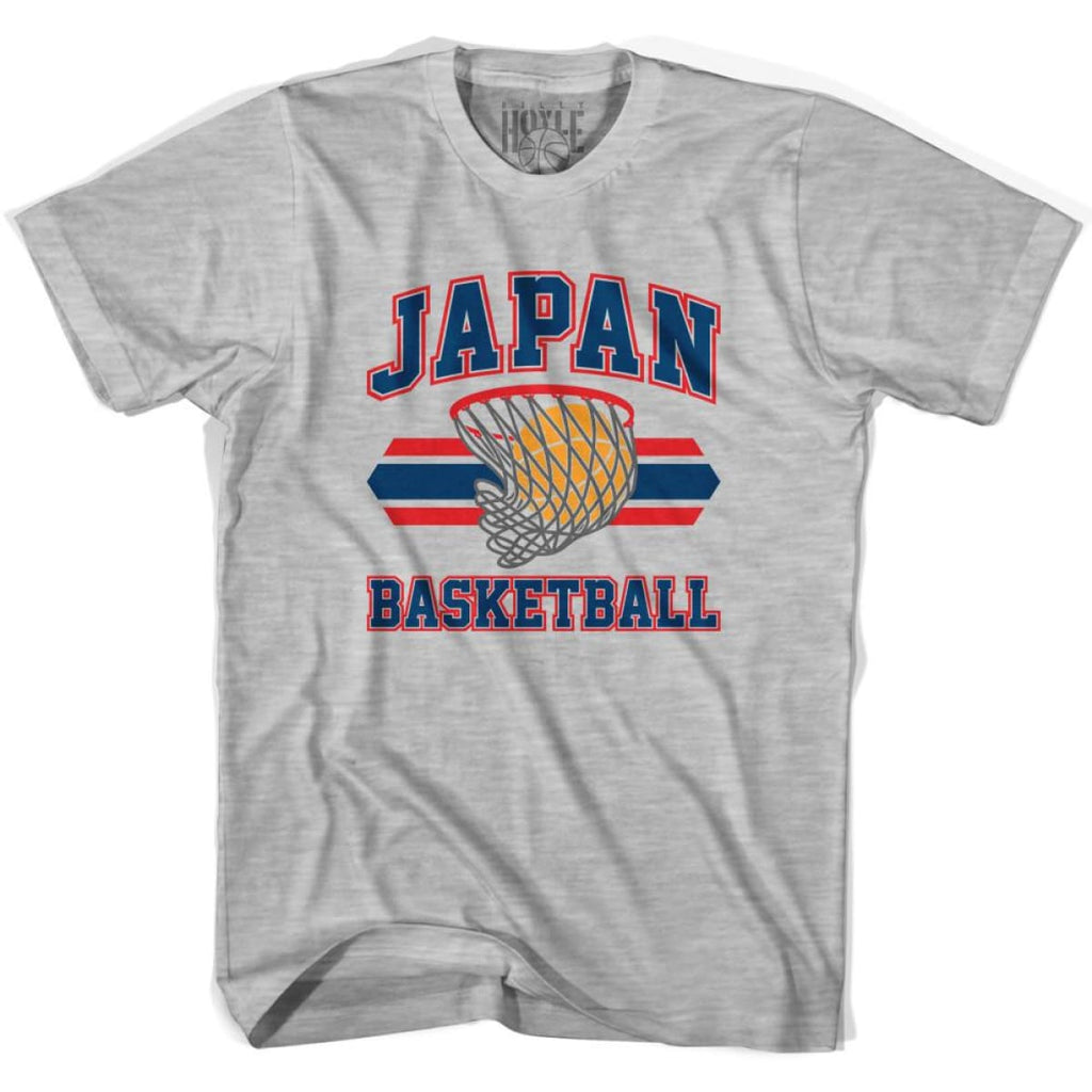 Japan 90s Basketball T-shirts - Grey Heather / Youth X-Small - Basketball T-shirt