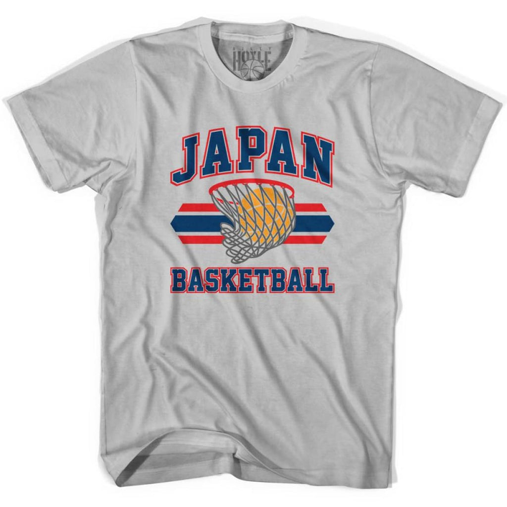 Japan 90s Basketball T-shirts - Silver / Youth X-Small - Basketball T-shirt