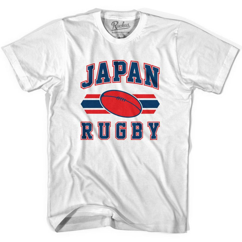 Japan 90s Rugby Ball T-shirt - White / Youth X-Small - Rugby Sevens