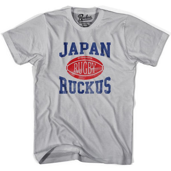 Japan Ruckus Rugby T-shirt - Cool Grey / Youth X-Small - Rugby T-shirt