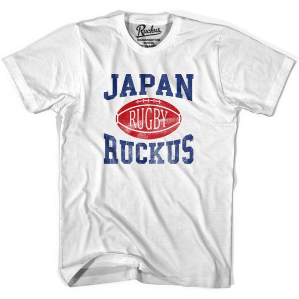 Japan Ruckus Rugby T-shirt - White / Youth X-Small - Rugby T-shirt