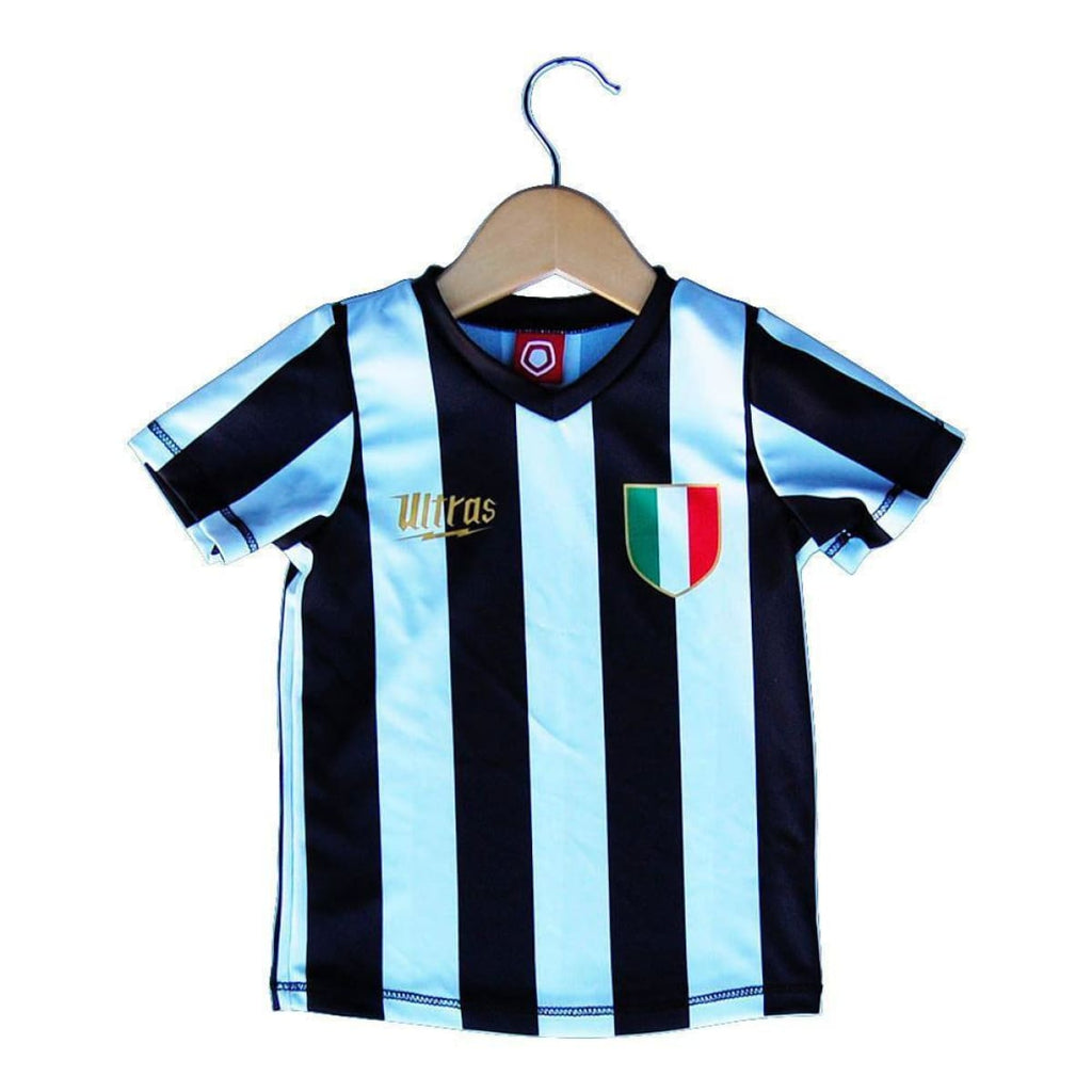 Juventus Scudetto 10 Toddler Soccer Sublimated Jersey - Black/White / Toddler 1 / No - Ultras City Soccer Jerseys