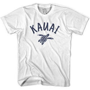 Kauai Beach Sea Turtle Womens Cotton T-shirt - White / Womens Small - Turtle T-shirts