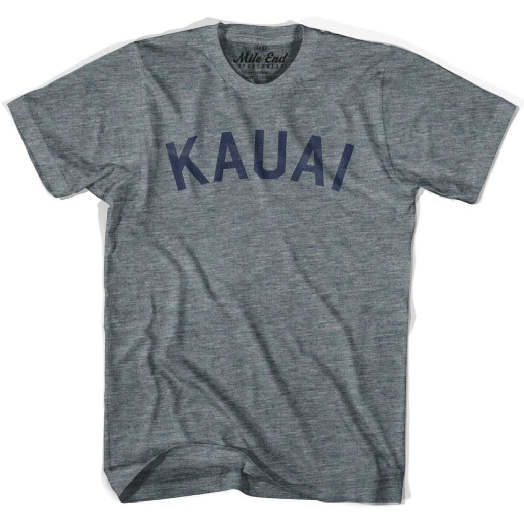 Kauai City Vintage T-shirt - Athletic Grey / Adult X-Small - Mile End City