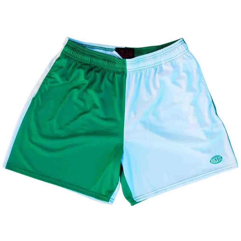 Kelly and White Rugby Shorts - Kelly and White / Adult Small - Rugby Cut Training Shorts
