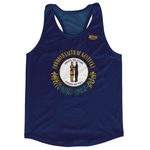 Kentucky State Flag Running Tank Top Racerback Track and Cross Country Singlet Jersey - Navy / Adult X-Small - Running Top