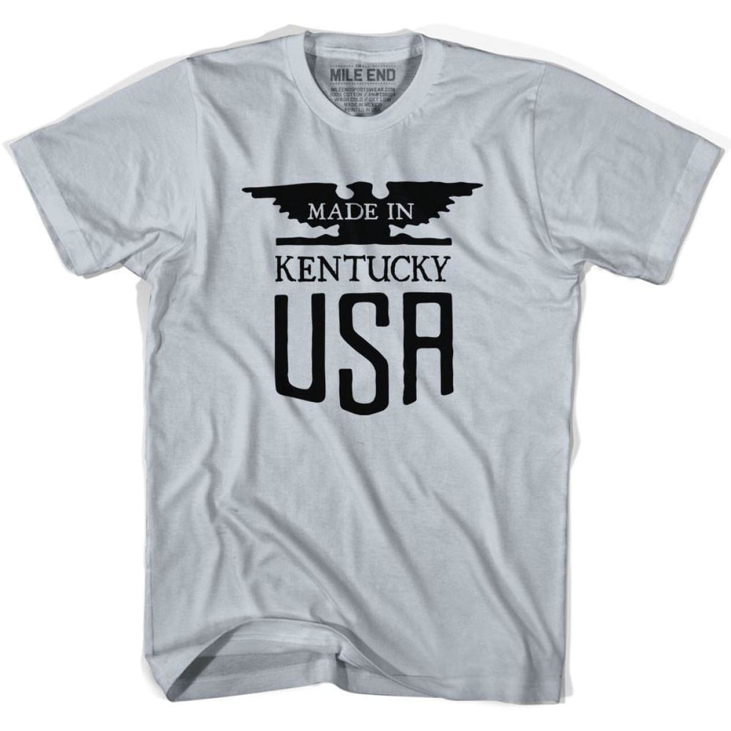 Kentucky Vintage Eagle T-shirt - Cool Grey / Youth X-Small - Made in Eagle