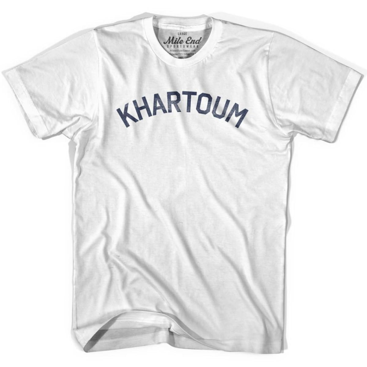 Khartoum City Vintage T-shirt - Grey Heather / Youth X-Small - Mile End City