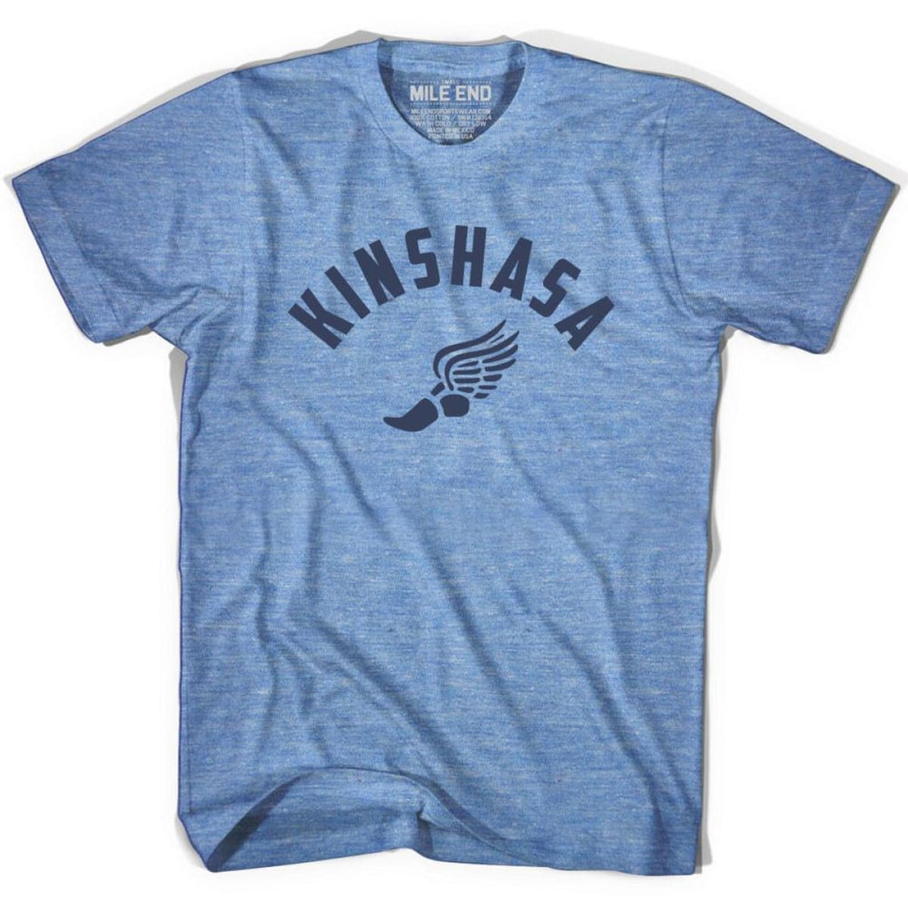 Kinshasa Track T-shirt - Athletic Blue / Adult X-Small - Mile End Track