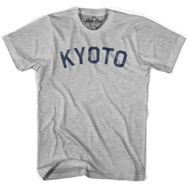 Kyoto City Vintage T-shirt - Grey Heather / Youth X-Small - Mile End City