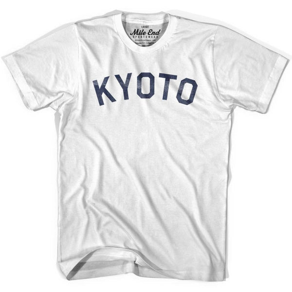 Kyoto City Vintage T-shirt - White / Youth X-Small - Mile End City