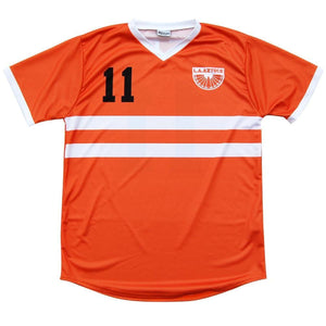 LA Aztecs George Best Soccer Jersey - Orange / Toddler 1 / No - Ultras NASL Soccer Jerseys