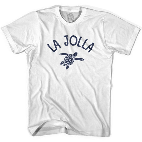 La Jolla Beach Sea Turtle Womens Cotton T-shirt - White / Womens Small - Turtle T-shirts