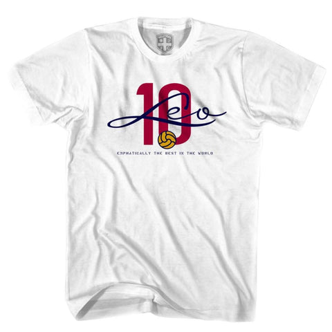 Leo Messi 10 Legend T-shirt - White / Youth X-Small - Ultras Soccer T-shirts