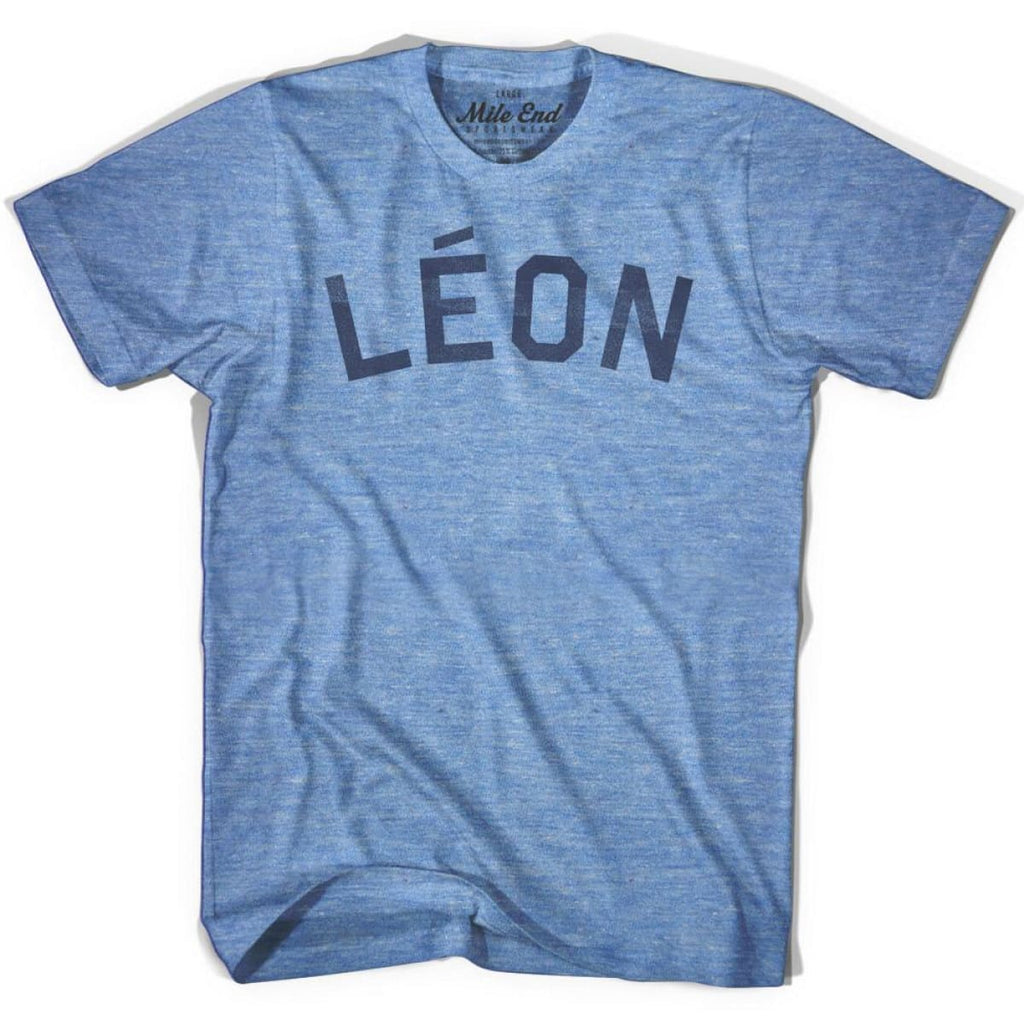Leon City Vintage T-shirt - Athletic Blue / Adult X-Small - Mile End City