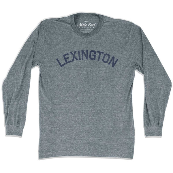 Lexington City Vintage Long Sleeve T-Shirt - Athletic Grey / Adult X-Small - Mile End City
