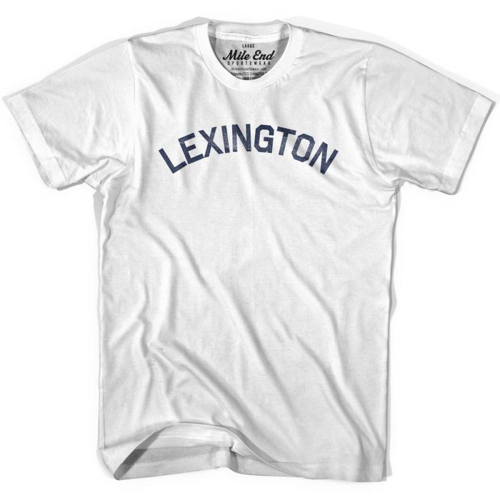 Lexington City Vintage T-shirt - White / Youth X-Small - Mile End City