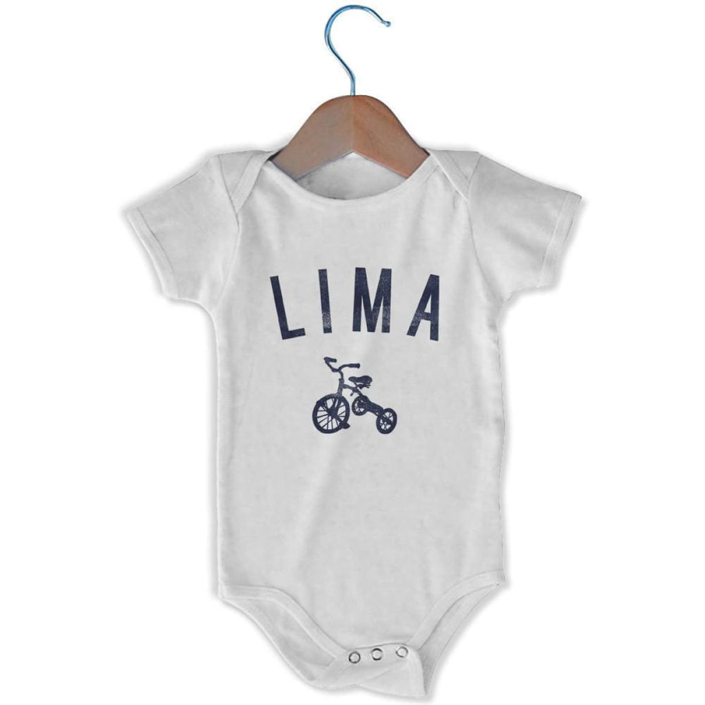 Lima City Tricycle Infant Onesie - White / 6 - 9 Months - Mile End City
