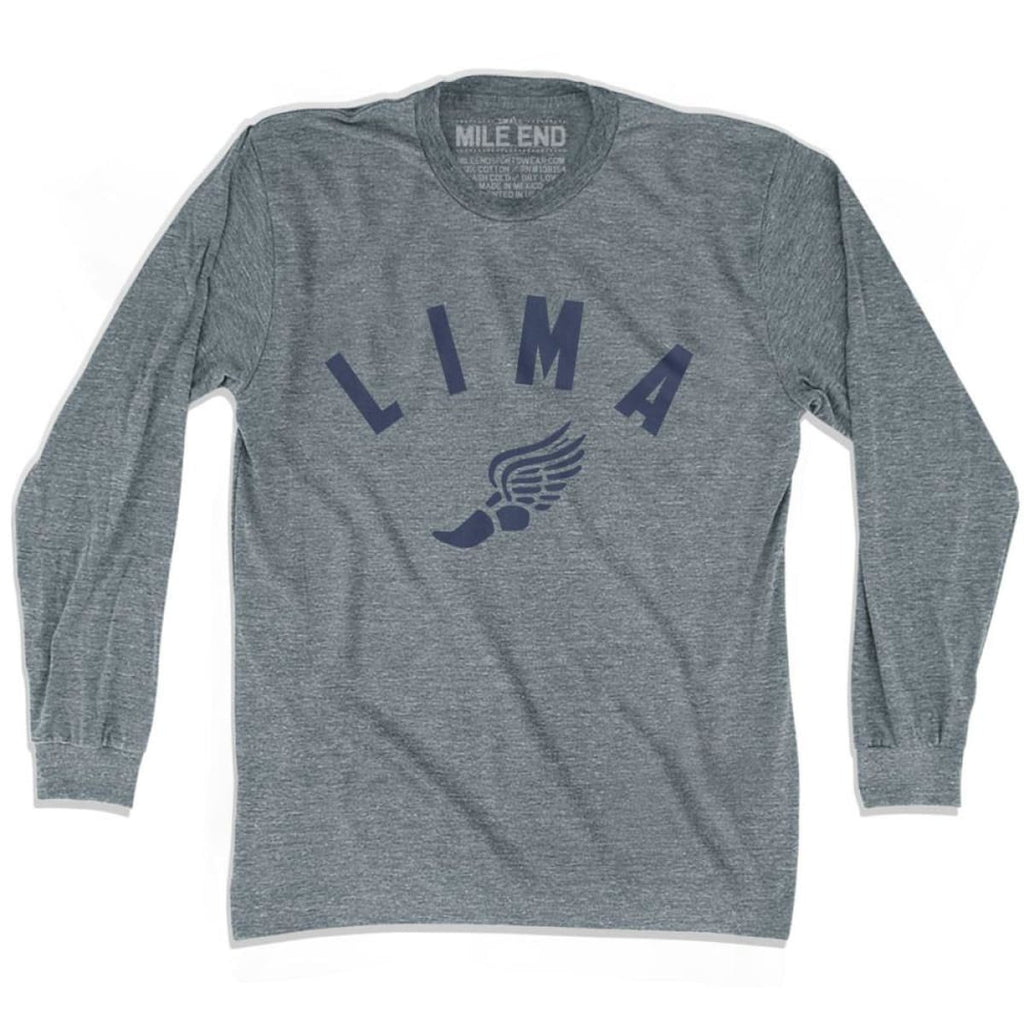 Lima Track Long Sleeve T-shirt - Athletic Grey / Adult X-Small - Mile End Track