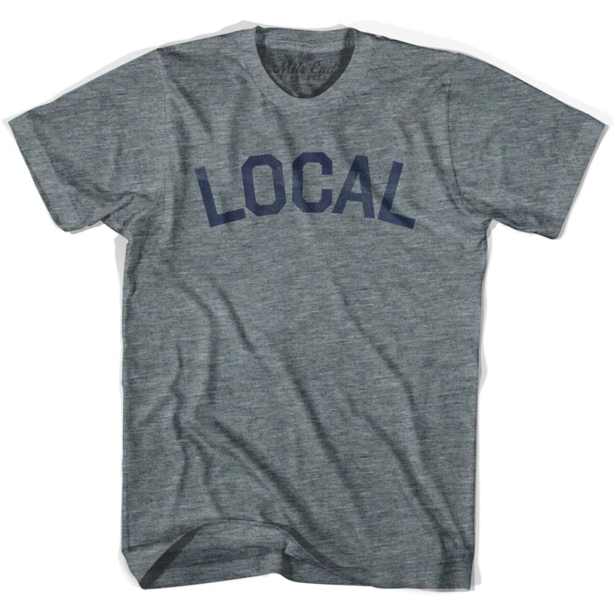 Local City Vintage T-shirt - Athletic Grey / Adult X-Small - Mile End City