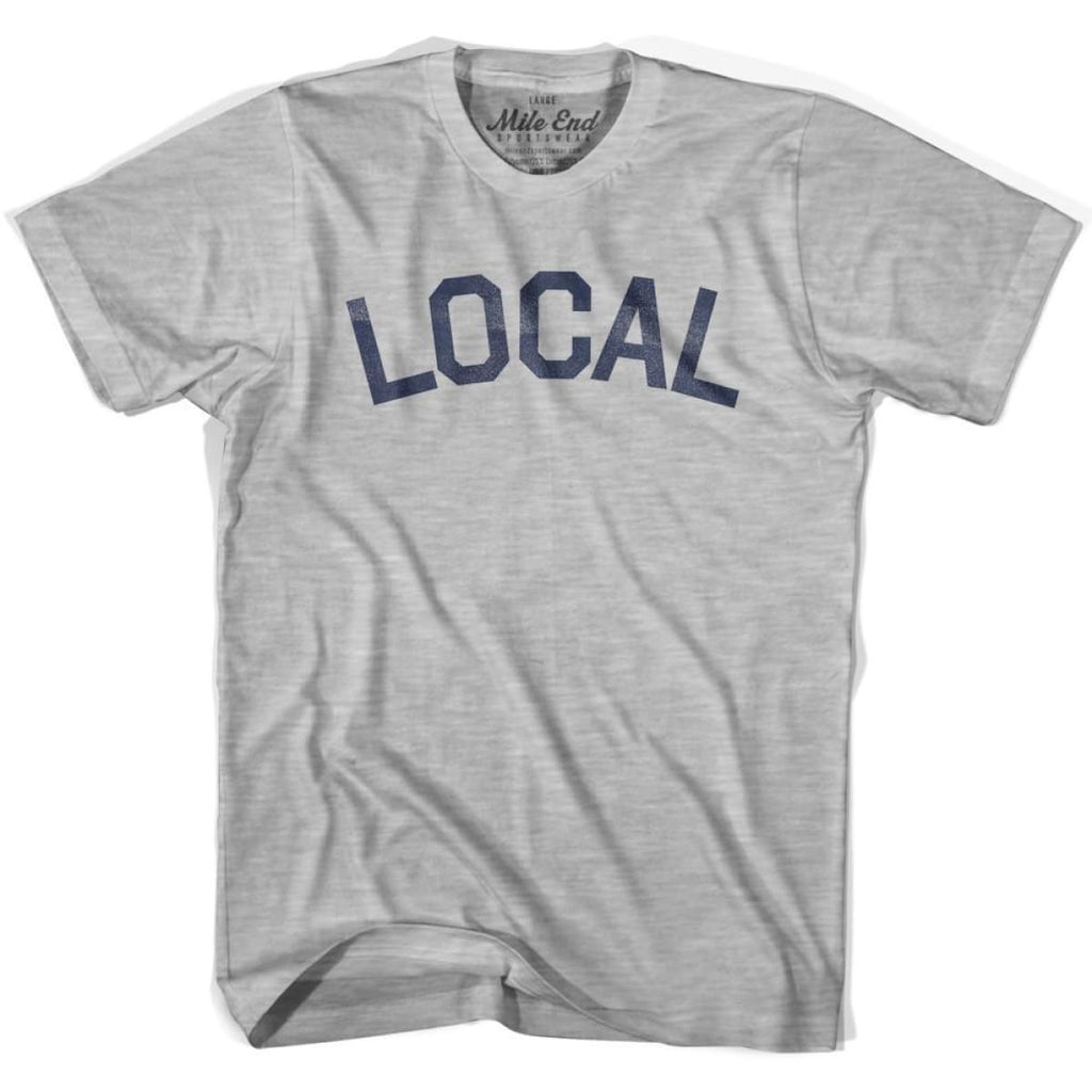 Local City Vintage T-shirt - Grey Heather / Youth X-Small - Mile End City