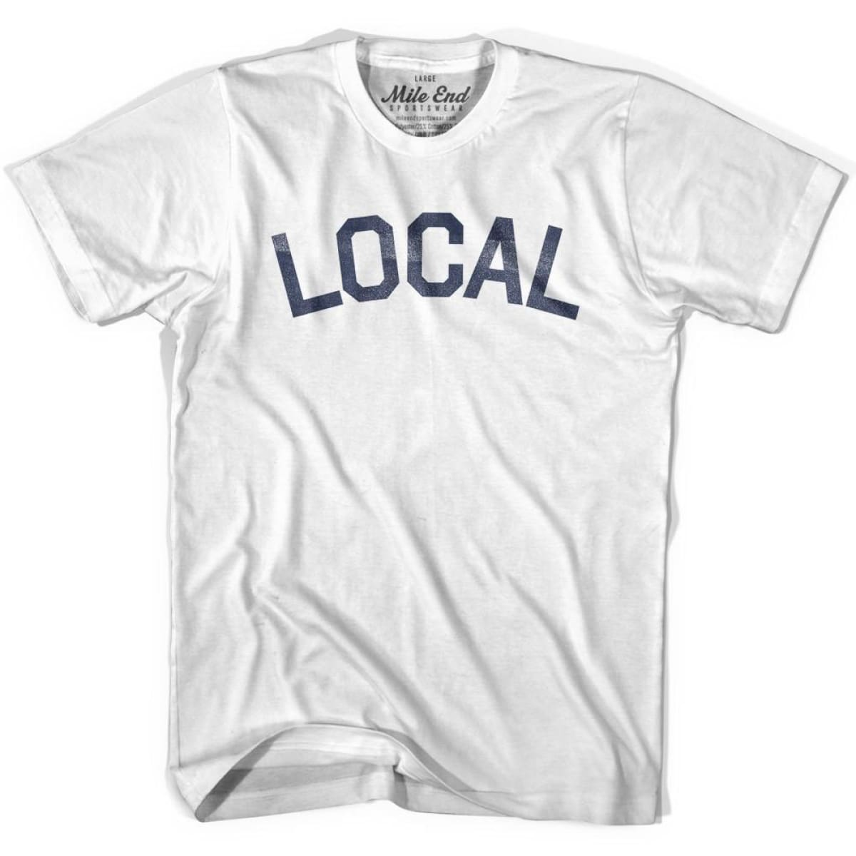 Local City Vintage T-shirt - White / Youth X-Small - Mile End City