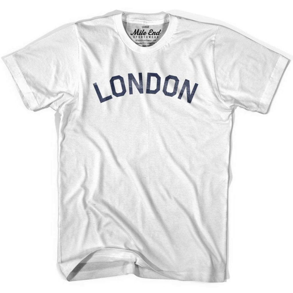 London City Vintage T-shirt - White / Youth X-Small - Mile End City