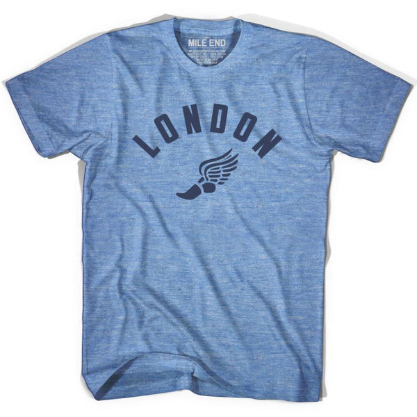 London Track T-shirt - Athletic Blue / Adult X-Small - Mile End Track