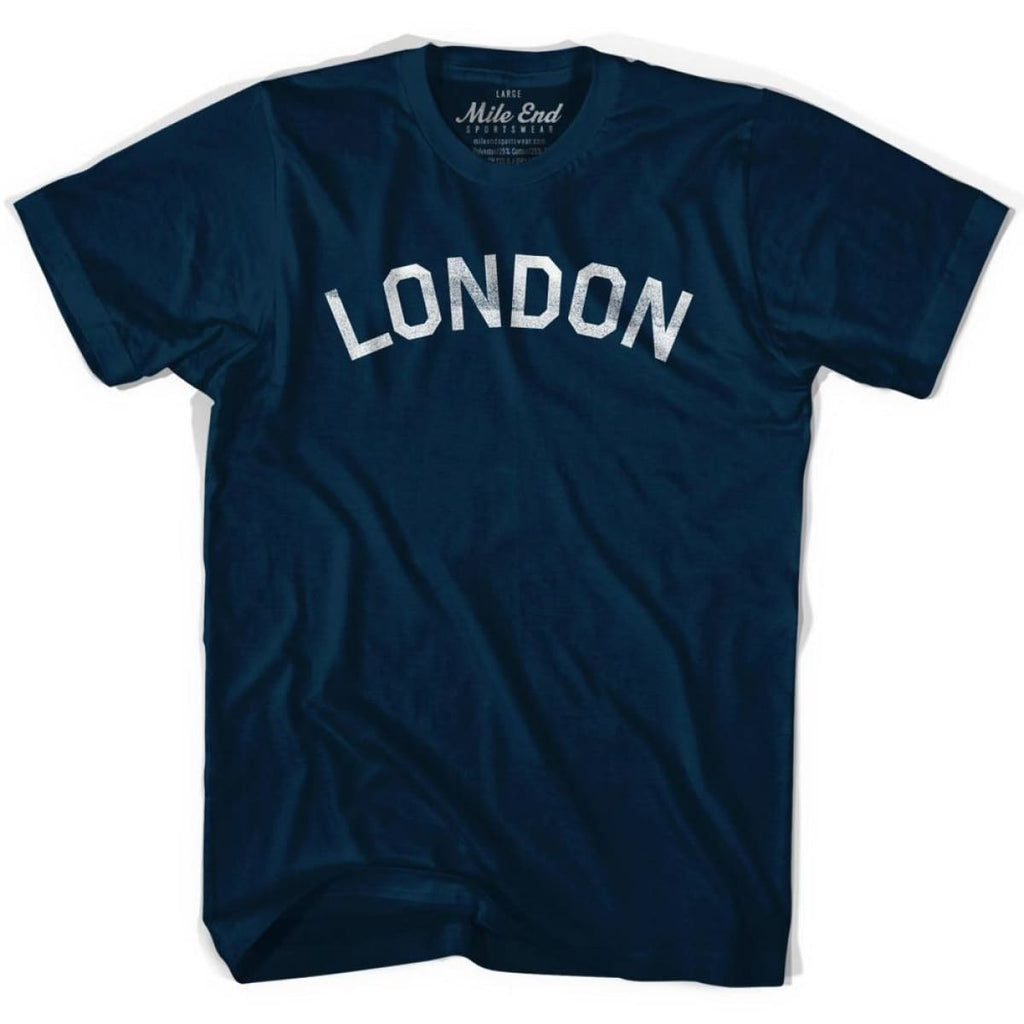 London Vintage City T-shirt - Navy / Adult Small - Mile End City