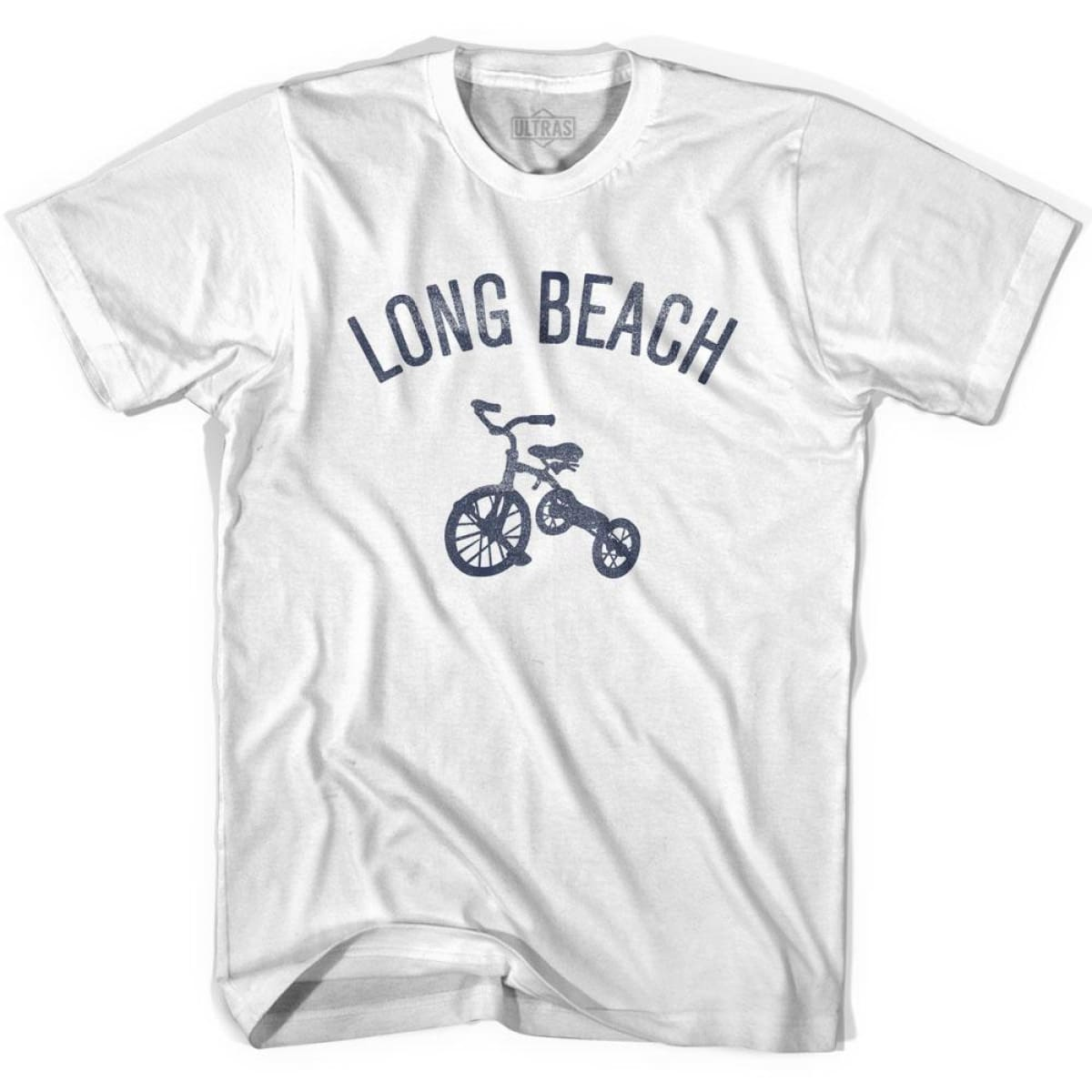 Long Beach City Tricycle Womens Cotton T-shirt - Tricycle City