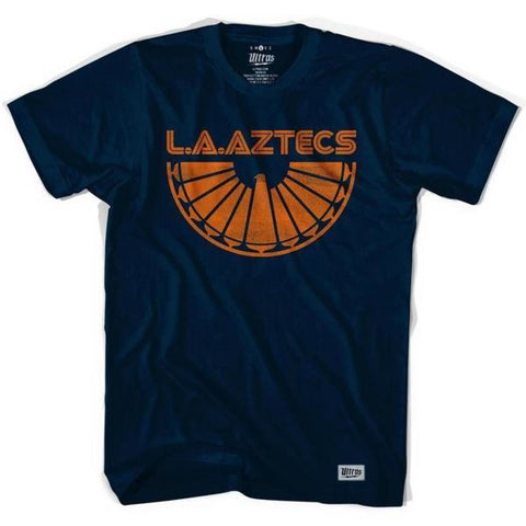 Los Angeles Aztecs Rising Soccer T-shirt - Ultras Vintage American Soccer T-shirts