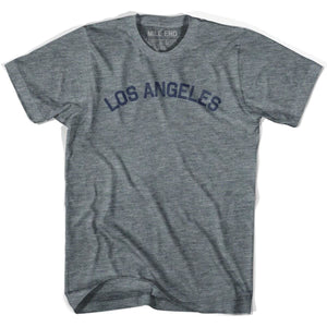 Los Angeles City Vintage T-shirt - Athletic Grey / Youth X-Small - Mile End City