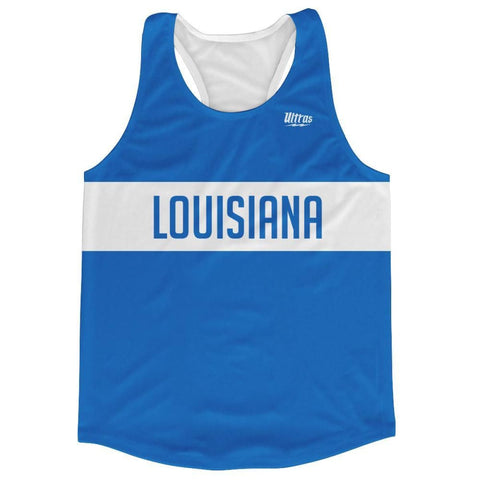 Louisiana Finish Line Running Tank Top Racerback Track and Cross Country Singlet Jersey - Sky Blue / Adult X-Small - Running Top
