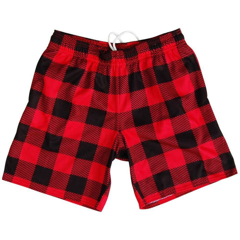 Lumber Jacks Athletic Fleece Sweatshorts - Red and Black / Adult Small - Sweat Shorts