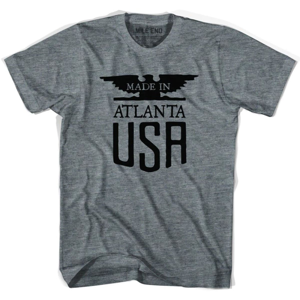 Made In USA Atlanta Vintage Eagle T-shirt - Athletic Grey / Youth X-Small - Made in Eagle